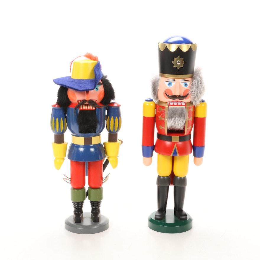Seiffener Volkskunst and Vintage German Wooden Nutcrackers