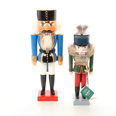 Handmade German Wooden Nutcrackers, Late 20th Century