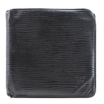 Louis Vuitton Bifold Wallet in Black Epi Leather