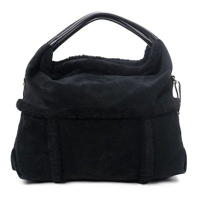 UGG Australia Hobo Bag in Black Sheepskin Shearling