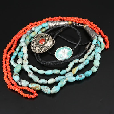 Southwestern Style Jewelry Featuring Turquoise and Mother of Pearl