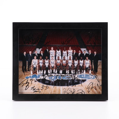 Orlando Magic NBA Signed Team Framed Photo Print, Shaquille O'Neal, Horace Grant