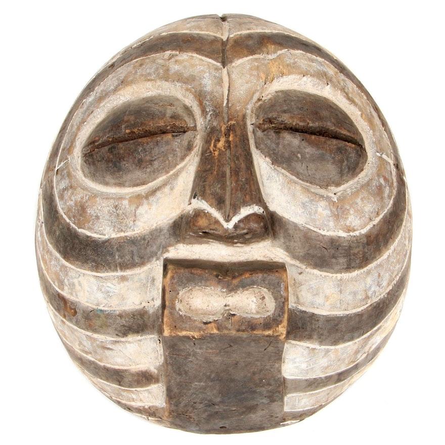 Luba Style Wooden Mask, Democratic Republic of the Congo