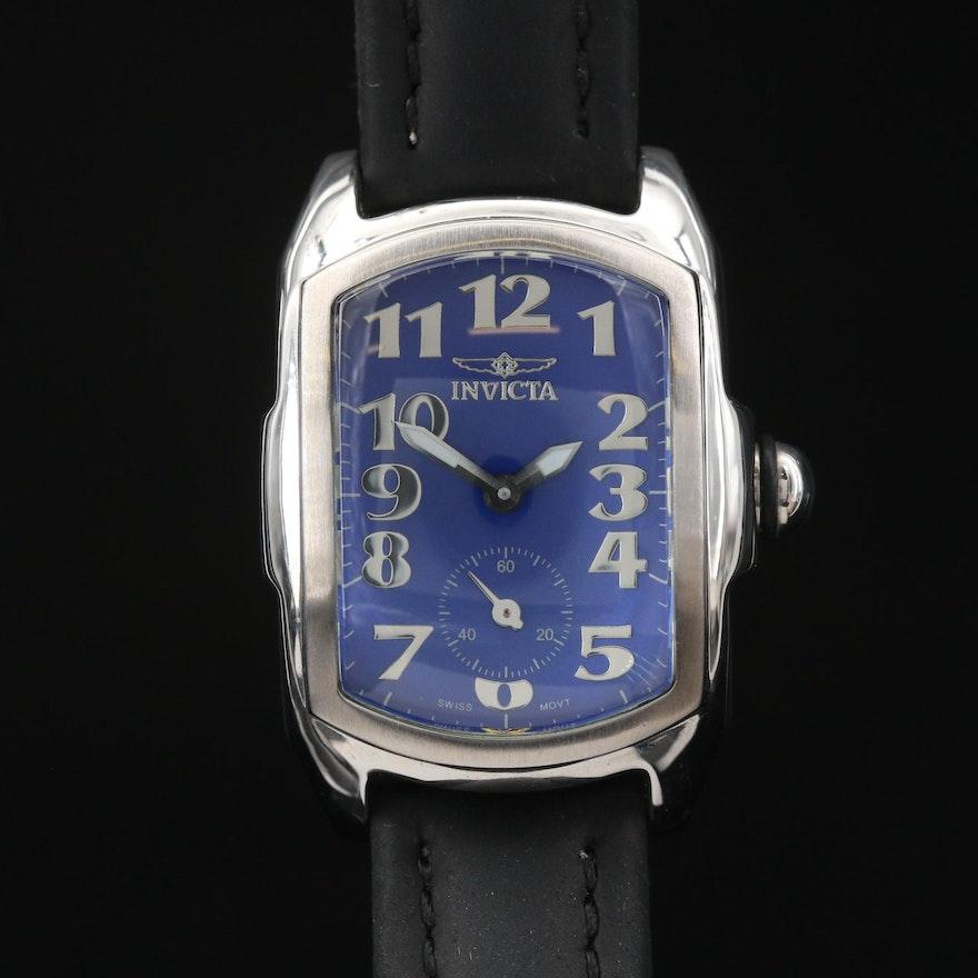 Invicta Blue Dial Stainless Steel Quartz Wristwatch