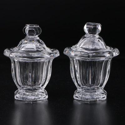 "Baccarat ""Bretagne"" Crystal Mustard Jars, 1954–1994"