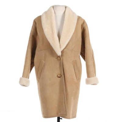Eddie Bauer Sheepskin Shearling Coat