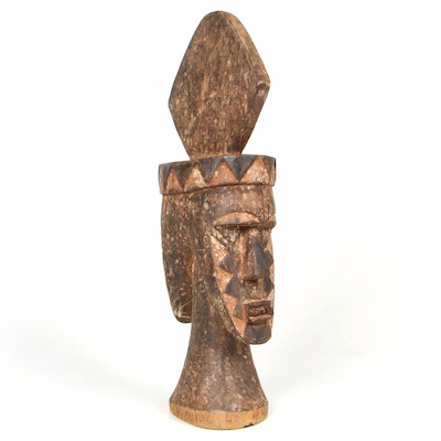 West African Style Double-Faced Crest Mask
