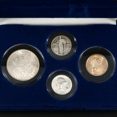 Collection of US Coins in Display Box