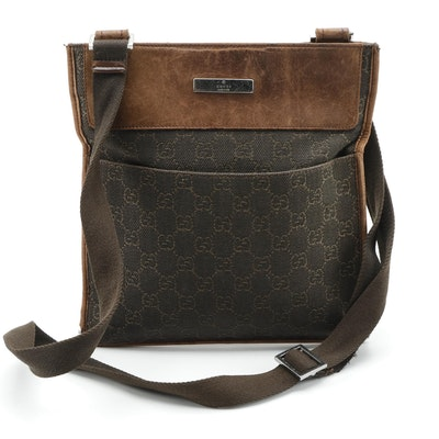 Gucci GG Canvas and Leather Crossbody Bag