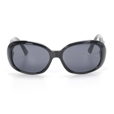 Chanel Camellia Rose Sunglasses in Black with Case