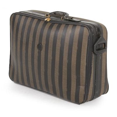 Fendi Suitcase in Pequin Coated Canvas