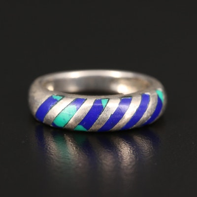 Sterling Silver Faux Azuremalachite Ring