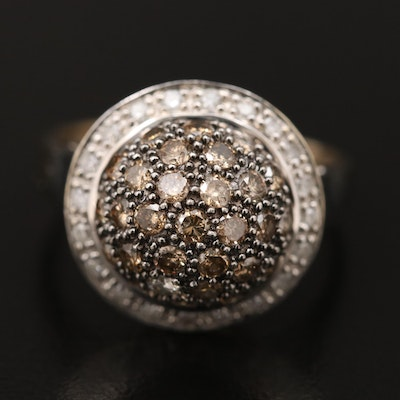 10K 1.12 CTW Diamond Dome Ring
