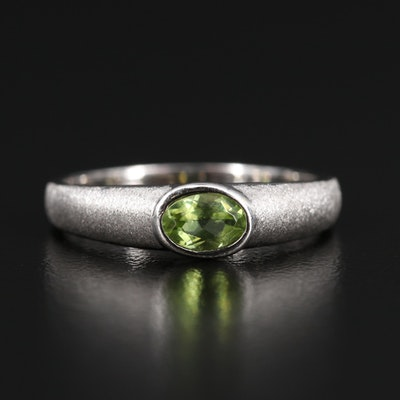 14K Peridot Solitaire Ring