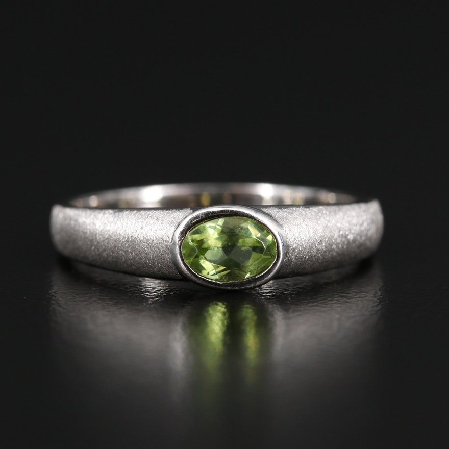 14K Peridot Solitaire Ring