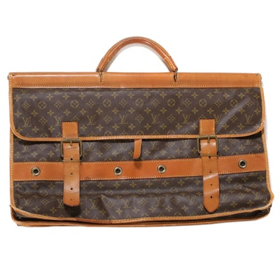 Louis Vuitton Sac Gibier Chasse in Monogram Canvas and Vachetta Leather