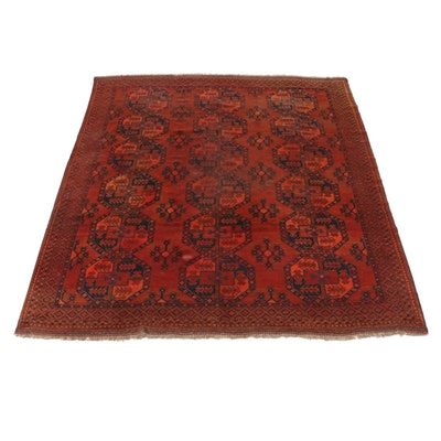 8'5 x 10'4 Afghani Turkoman Rug, 1920s