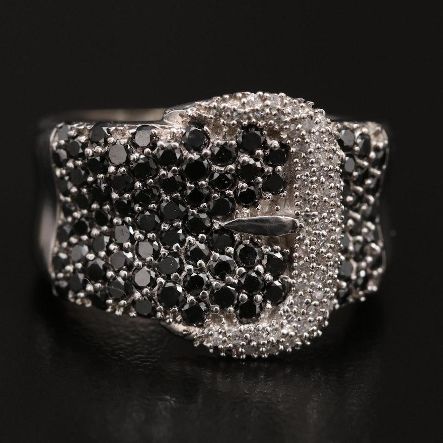 10K 1.95 CTW Diamond Buckle Ring