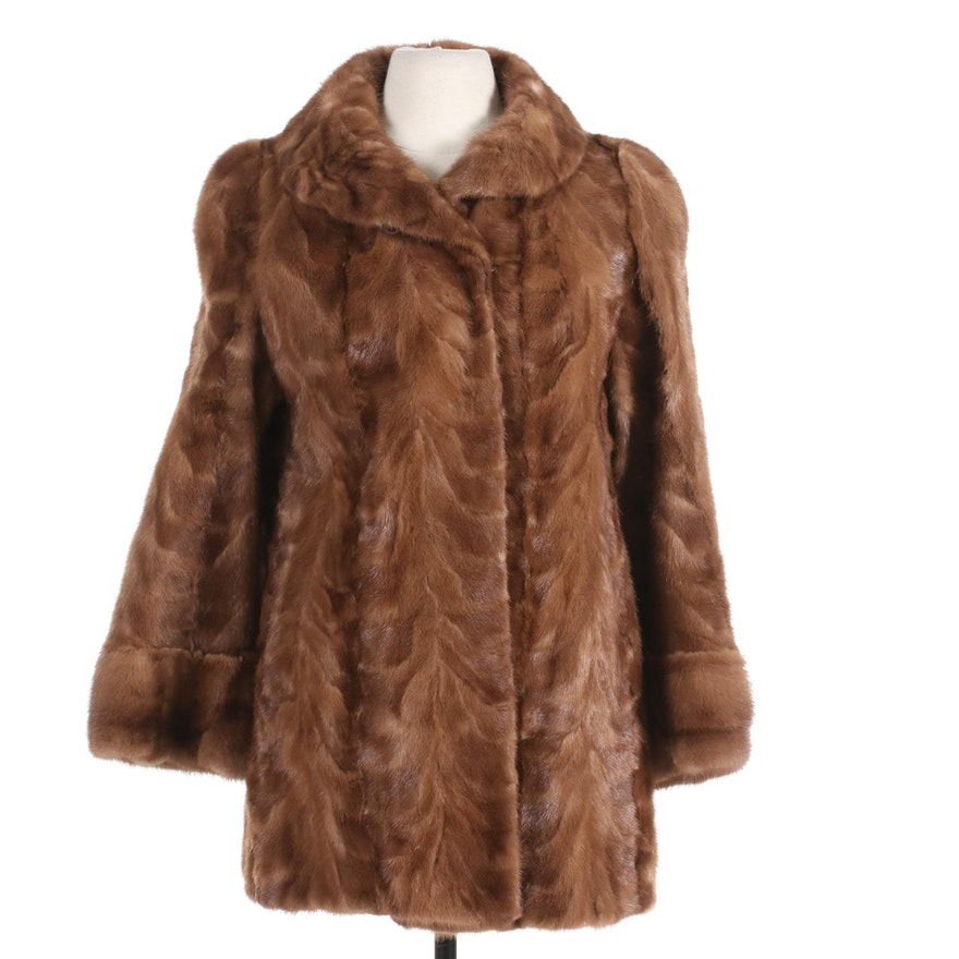 Paw Mink Fur Stroller Coat