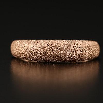 14K Rose Gold Textured Ring