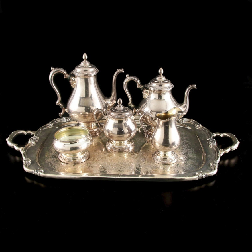 "Rogers Bros. ""Rememberance"" Silver Plate Tea Service, Mid-20th Century"