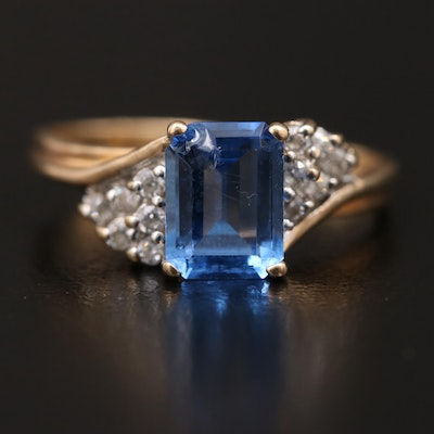 10K Spinel and Cubic Zirconia Ring