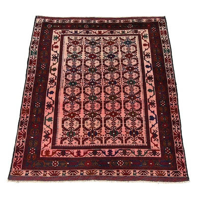 4'2 x 6'2 Hand-Knotted Persian Balouch Rug, 2000s