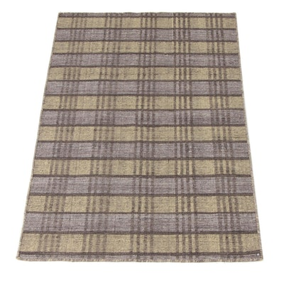 3'5 x 5'7 Handwoven Indo Mid Century Modern Rug, 2000s