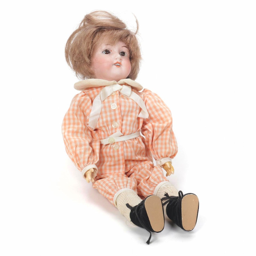 Armand Marseille German Hand-Painted Bisque Doll, Late 19th/Early 20th Century