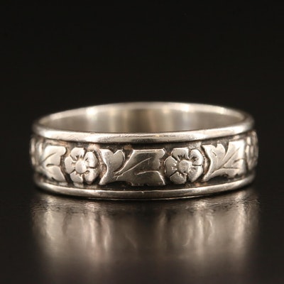 Wheeler Manufacturing of Lemmon Sterling Silver Floral Band