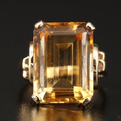 14K 9.34 CT Citrine Ring