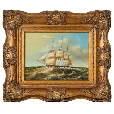 Oil Painting of Nautical Scene