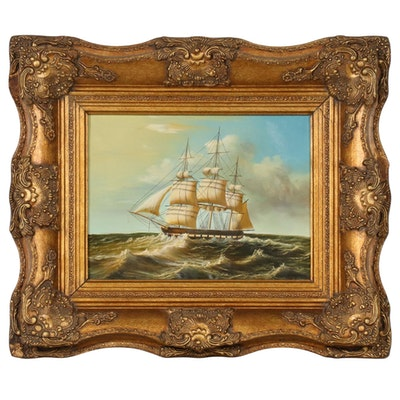 Oil Painting of Nautical Scene