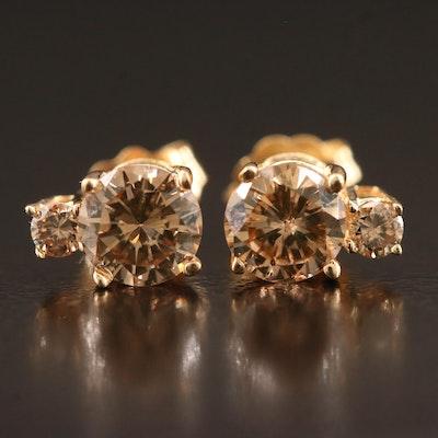 14K 1.03 CTW Diamond Stud Earrings