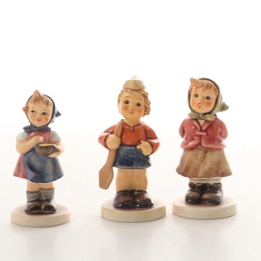 """Goebel """"Clear As A Bell"""", """"First Mate"""", and """"From Me to You"""" Hummel Figurines"""