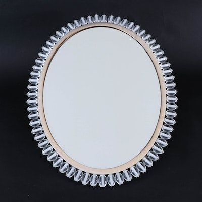 Baker Furniture Italian Wall Mirror with Crystal Beads, Contemporary