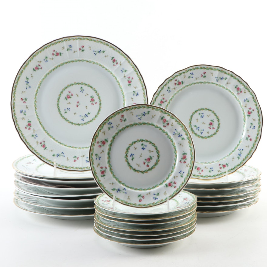 "Bernardaud Limoges ""Artois Vert"" Porcelain Dinnerware, 1974–2006"