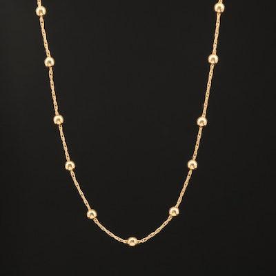 14K Station Necklace