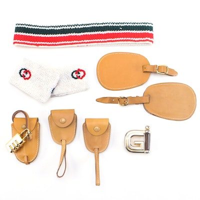 Gucci Luggage Tags Belt Buckle Key Holders Combination Lock and Sweatbands