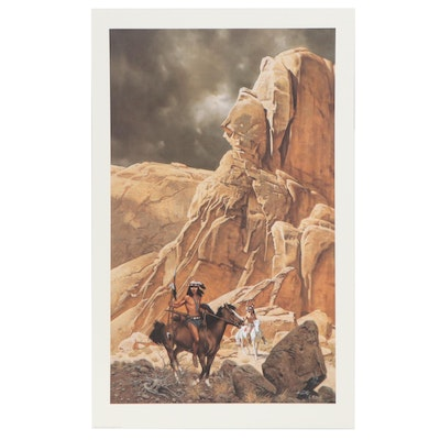 "Frank C. McCarthy Offset Lithograph ""Canyon Lands,"" 1989"