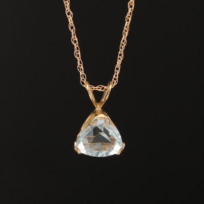 14K Aquamarine Necklace