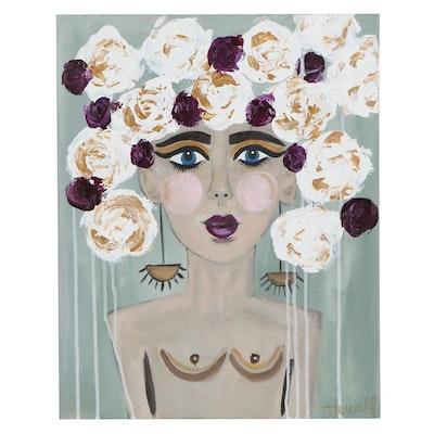 "Jordan Howell Acrylic Painting ""Gumption,"" 2020"