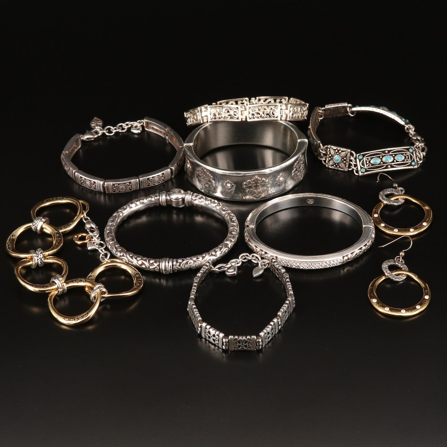 Assorted Bracelets and Earrings Including Brighton