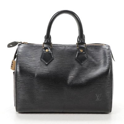 Louis Vuitton Speedy 25 in Black Epi Leather