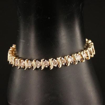 14K 9.60 CTW Diamond Line Bracelet