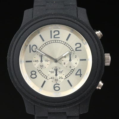 Black And Silver Dial Quartz Wristwatch