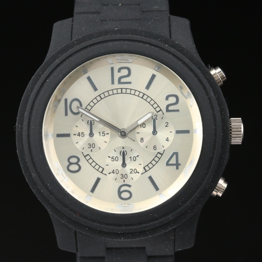 Black And Silver Dial Quartz Wristwatch