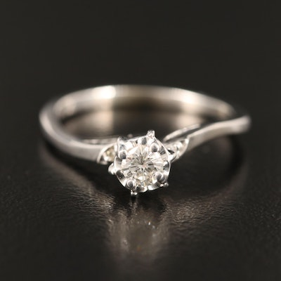 10K Diamond Ring with 14K Accent