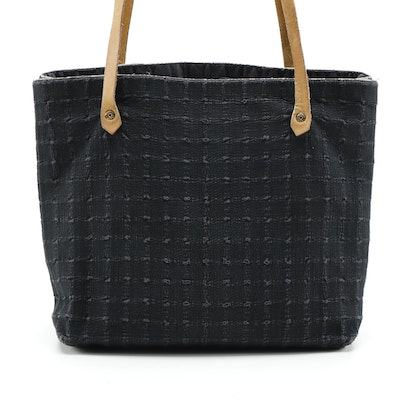 Hermès Paris Ahmedabad Shopping Tote in Cotton Stitch and Leather
