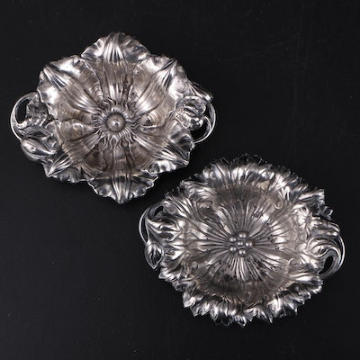 "Reed & Barton ""Les Cinq Fleurs"" Sterling Silver Nut Dishes"